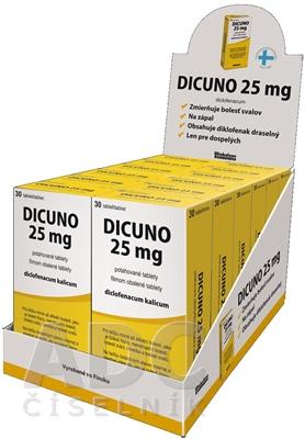 DICUNO 25 mg filmom obalené tablety DISPLEJ