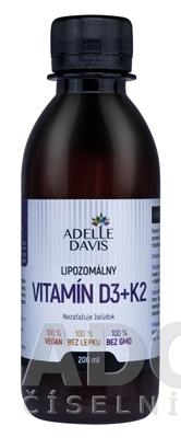 ADELLE DAVIS Lipozomálny VITAMÍN D3+K2