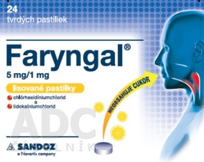 Faryngal 5 mg/1 mg lisované pastilky