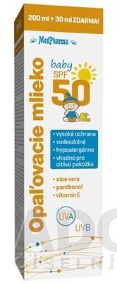 MedPharma OPAĽOVACIE MLIEKO BABY SPF 50