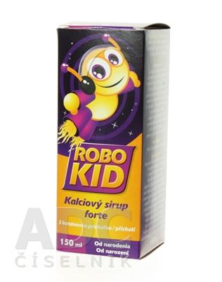 RoboKid Kalciový sirup forte s banánovou príchuťou