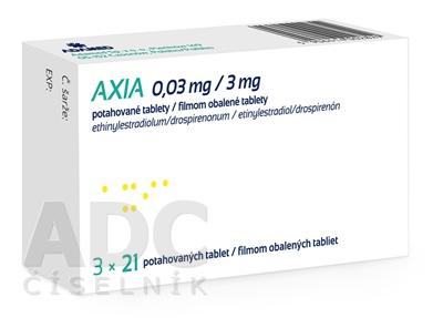 AXIA 0,03 mg/3 mg filmom obalené tablety