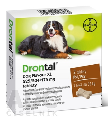 Drontal Dog Flavour XL 525/504/175 mg tablety