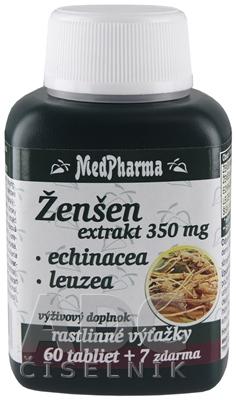 MedPharma ŽENŠEN 350 mg + Echinacea + Leuzea