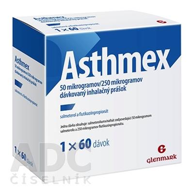 Asthmex 50 mikrogramov/250 mikrogramov
