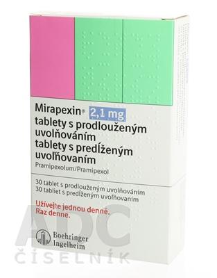 Mirapexin 2,1 mg tablety s predĺženým uvoľňovaním