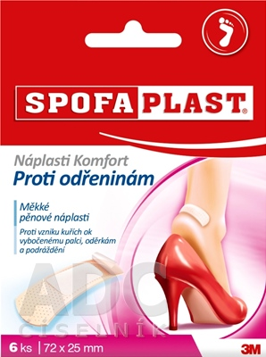 3M SPOFAPLAST č.186 Náplasti Komfort