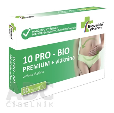 Slovakiapharm 10 PRO - BIO PREMIUM + vláknina