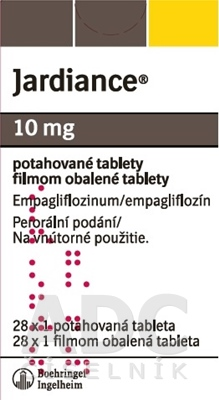 Jardiance 10 mg filmom obalené tablety